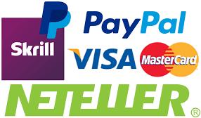 Visa Master Neteller Skrill Paypal