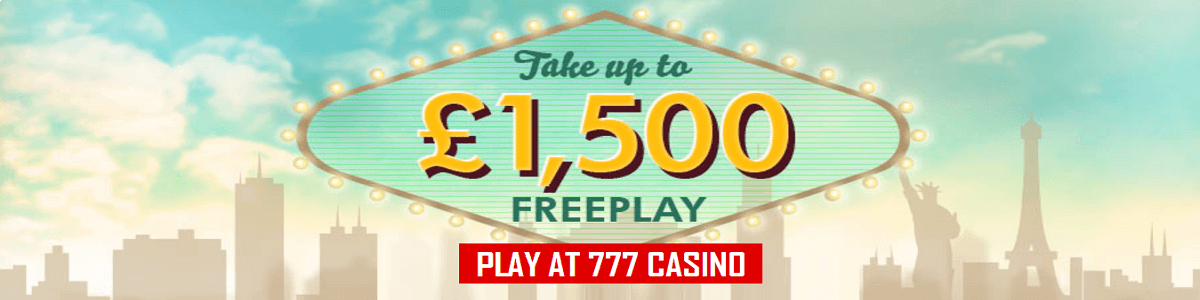 777 Casino UK Bonus