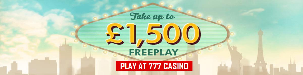 777 Casino UK Bonus