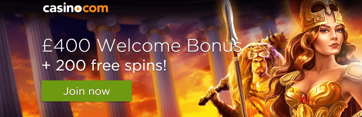 Casinocom UK Welcome Bonus