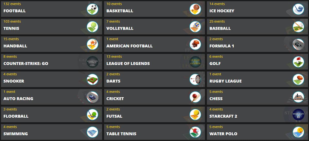LVbet Sport Events