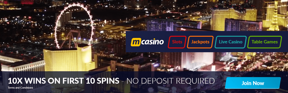 MCasino Free Spins UK Casino Bonus