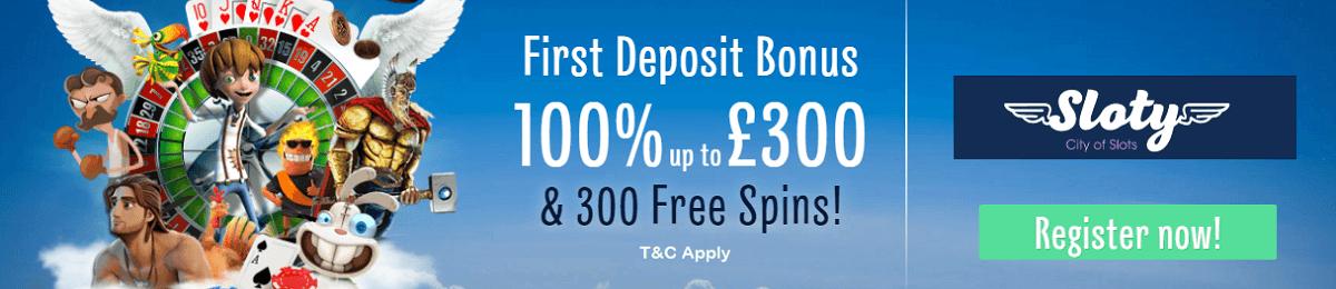 Sloty Casino Bonus UK