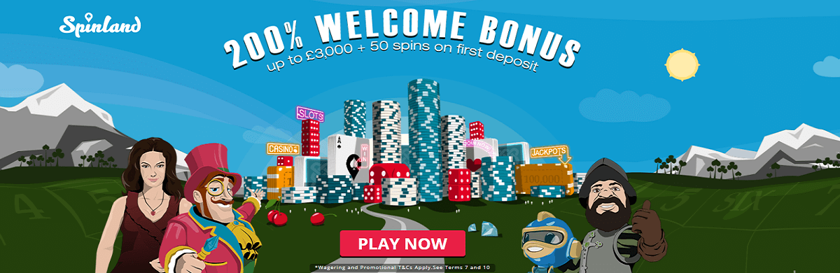 Spinland UK Casino Bonus