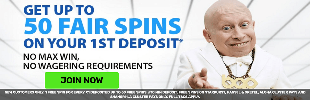 BGO Casino Fair Spins