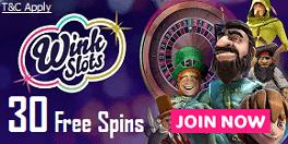 Wink Slots Casino UK Welcome Bonus