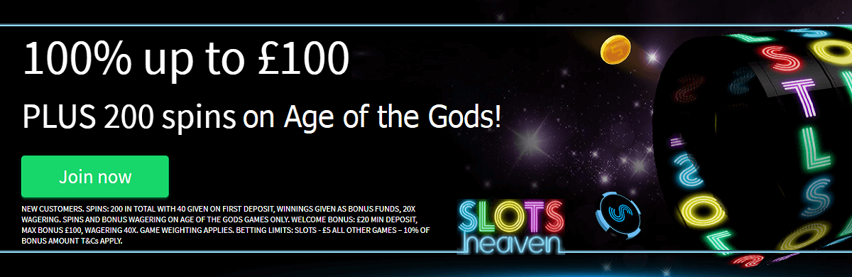 Casino Slots Heaven UK Welcome Bonus Free Spins