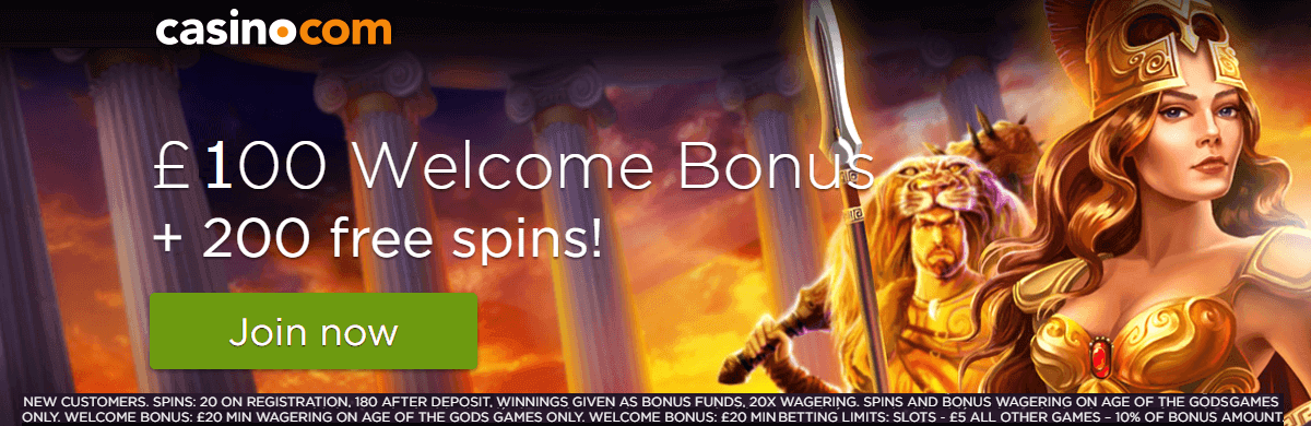 Casino.com New Welcome Bonus