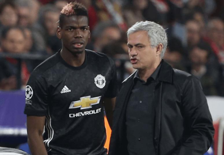 Pogba and José Mourinho