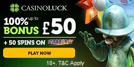 Casino Luck UK Sign Up Bonus