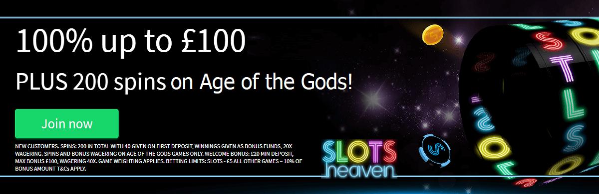 Casino Slots Heaven UK Welcome Bonus Free Spins