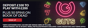 Guts Casino UK Welcome Bonus