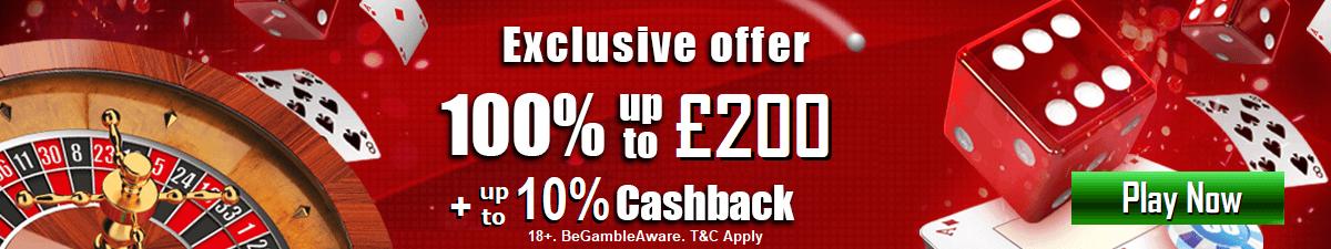 Mansion UK Cash Back Bonus