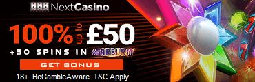 Next Casino UK Sign Up Bonus