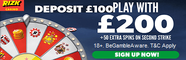 Rizk Casino UK Welcome Bonus