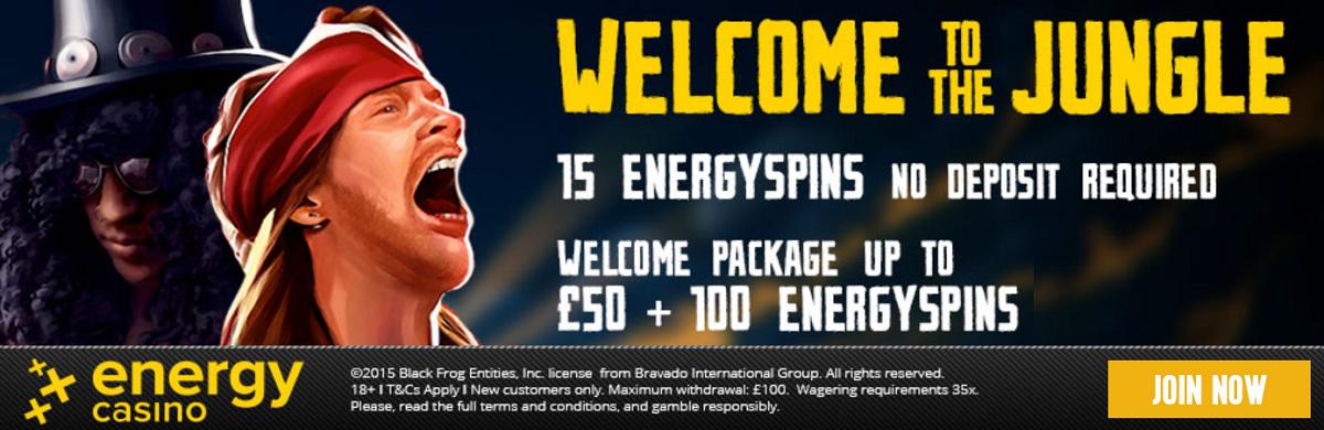 Energy Spins No Deposit