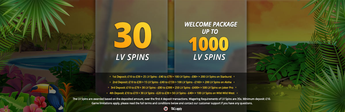 LVbet Casino LV Spins Free No Deposit