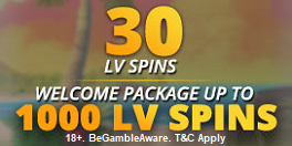 LVbet UK 30 LV Spins No Deposit