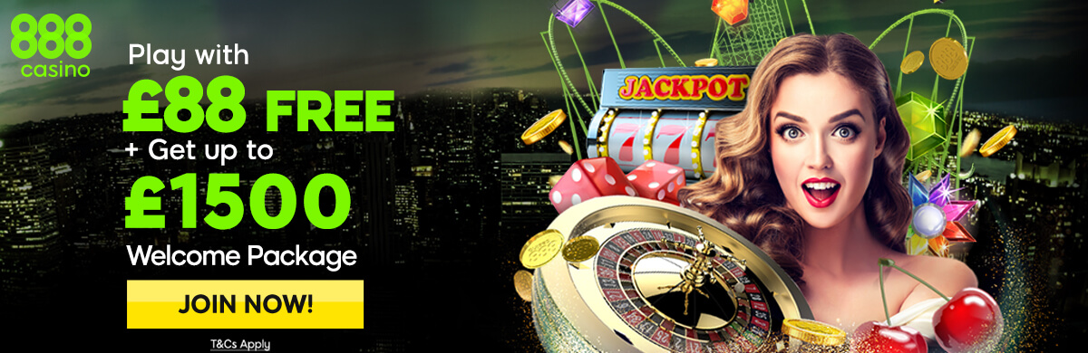 888 Casino Free £88 Bonus