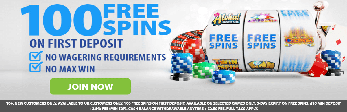 BGO Free 100 Spins Bonus No Deposit