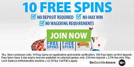 BGO No Deposit Free Spins UK