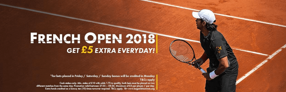 French Open 2018 Free Bet