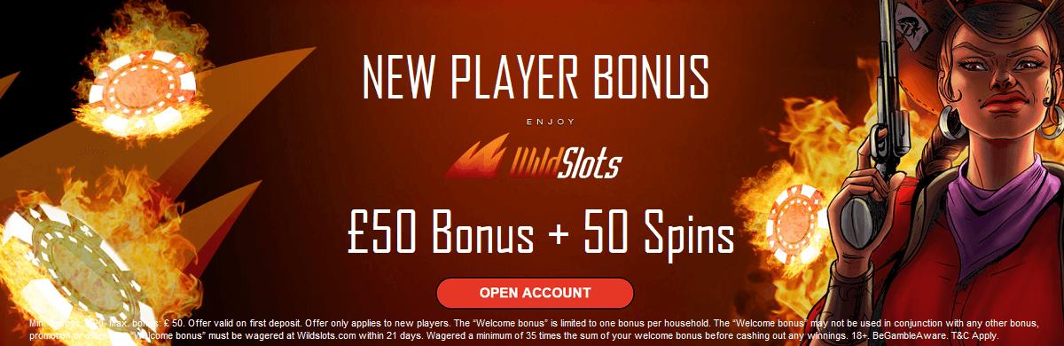 Wild Slots UK New Player Bonus