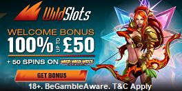 Wild Slots UK Welcome Bonus