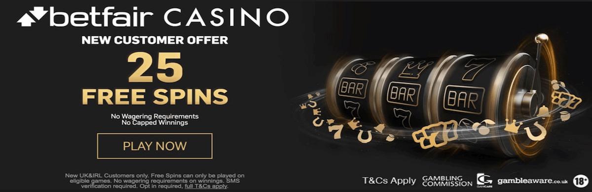 betfair 100 free spins