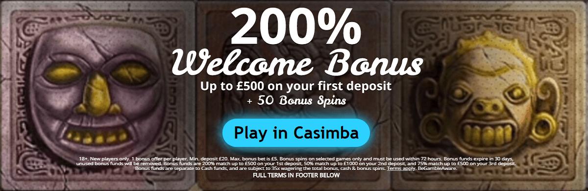 Casimba UK Welcome Bonus