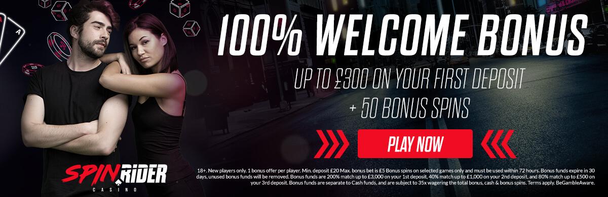 Spin Rider UK Welcome Bonus