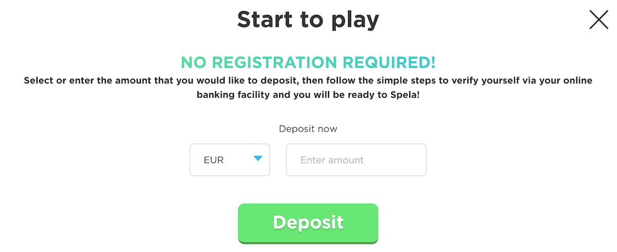 Spela Casino no registration