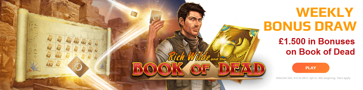 Book of Dead Bonus Netbet